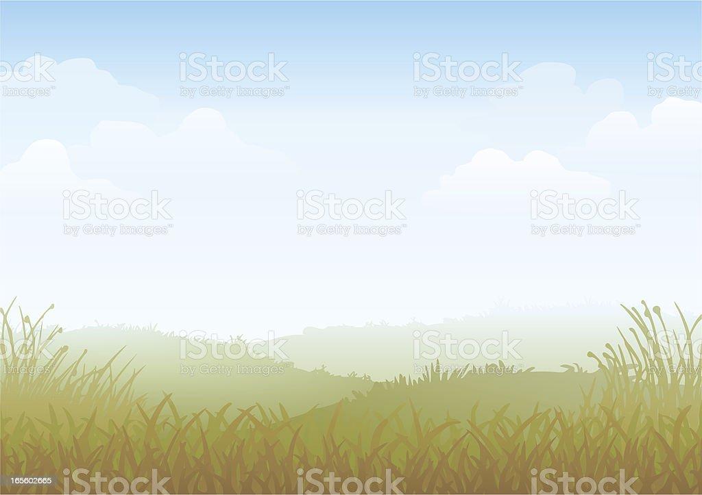 Misty Morning Vector vector art illustration