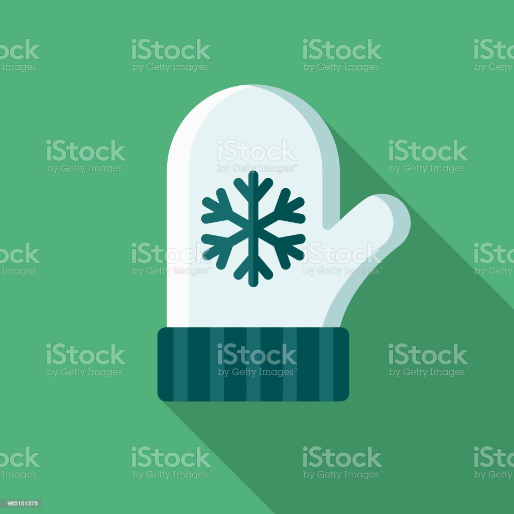 Mitten Flat Design Winter Icon with Side Shadow mitten flat design winter icon with side shadow - stockowe grafiki wektorowe i więcej obrazów bez ludzi royalty-free