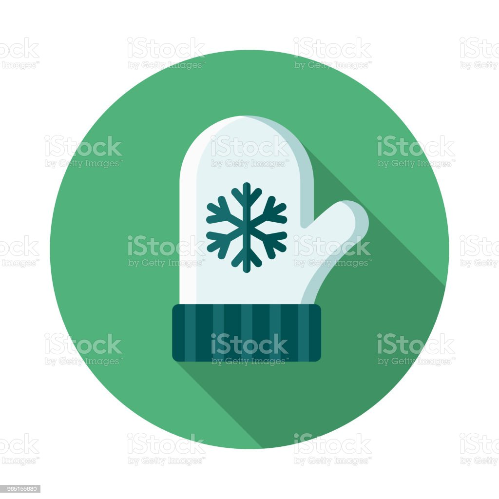 Mitten Flat Design Winter Icon with Side Shadow royalty-free mitten flat design winter icon with side shadow stock vector art & more images of blue