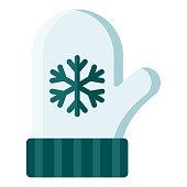 istock Mitten Icon on Transparent Background 1283073261