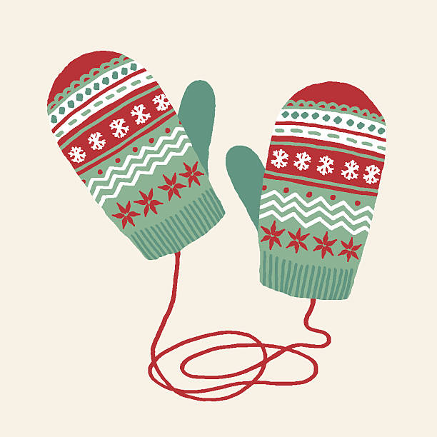 Mittens Hand drawn illustration. mitten stock illustrations