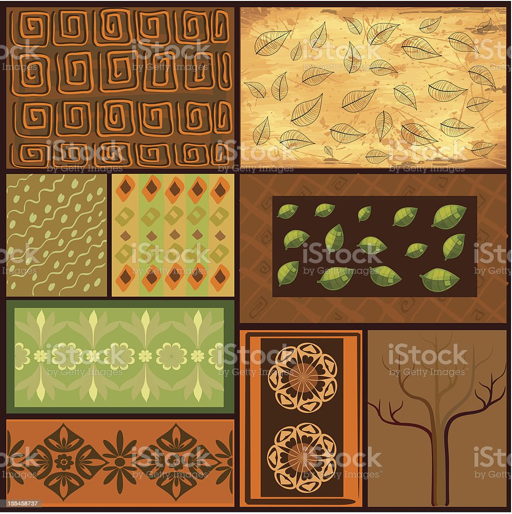 Mix African backgrounds royalty-free stock vector art