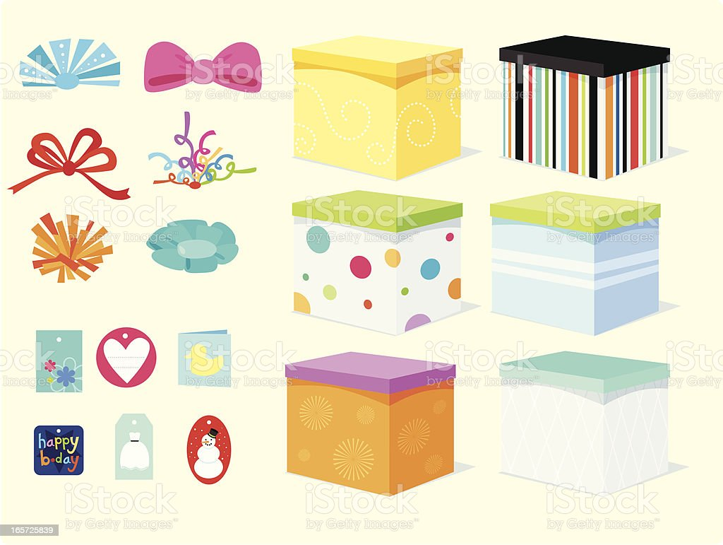 Mix and Match Gifts royalty-free stock vector art