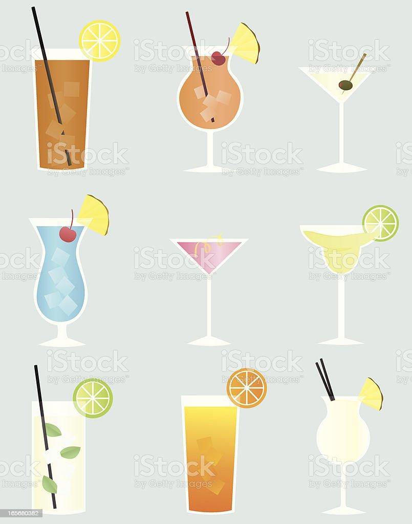 Mixed Drinks royalty-free stock vector art