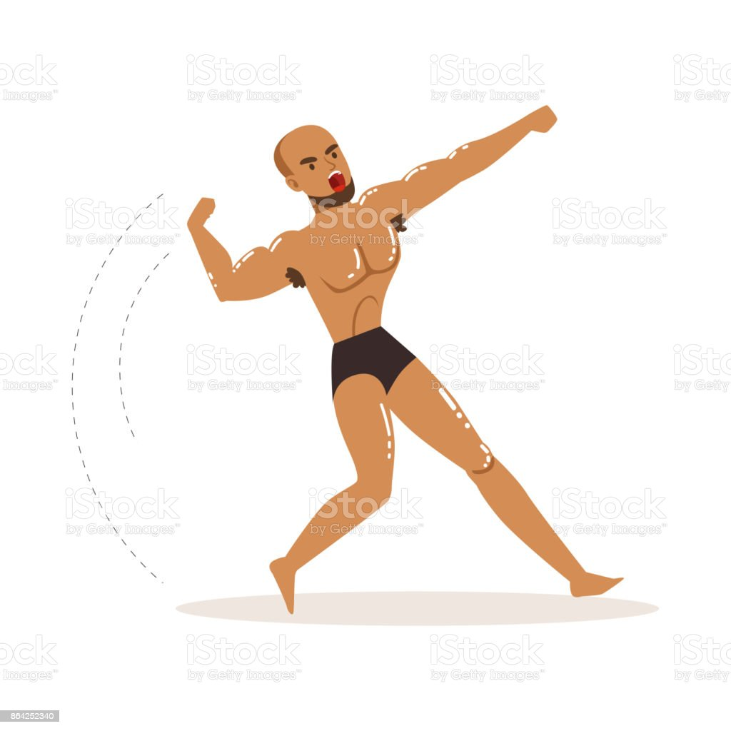 Mixed martial artist in fighting action royalty-free mixed martial artist in fighting action stock vector art & more images of adult