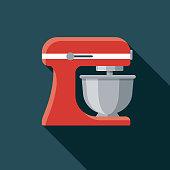istock Mixer Flat Design Appliance Icon 1081125294