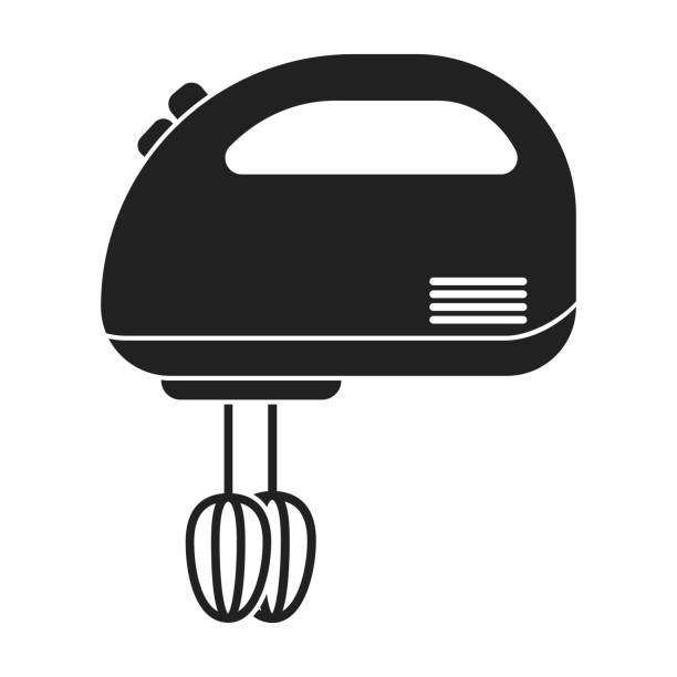 Hand Mixer Silhouette ~ Royalty free electric hand mixer clip art vector images