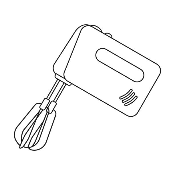 Electric Mixer Outline ~ Royalty free electric hand mixer clip art vector images