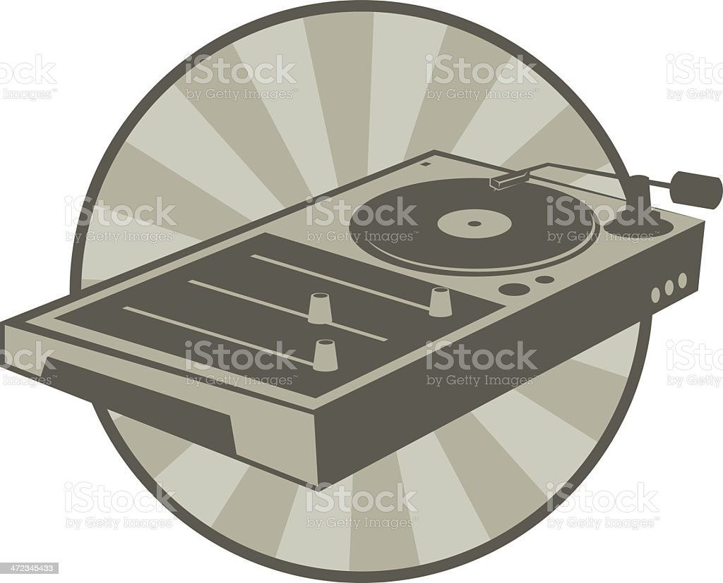 DJ mixer royalty-free stock vector art