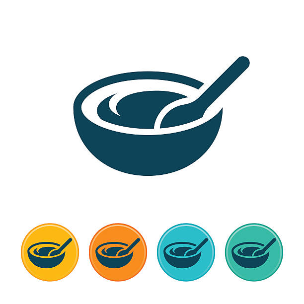 mixing bowl icon - mixing bowl stock illustrations, clip art, cartoons, & icons