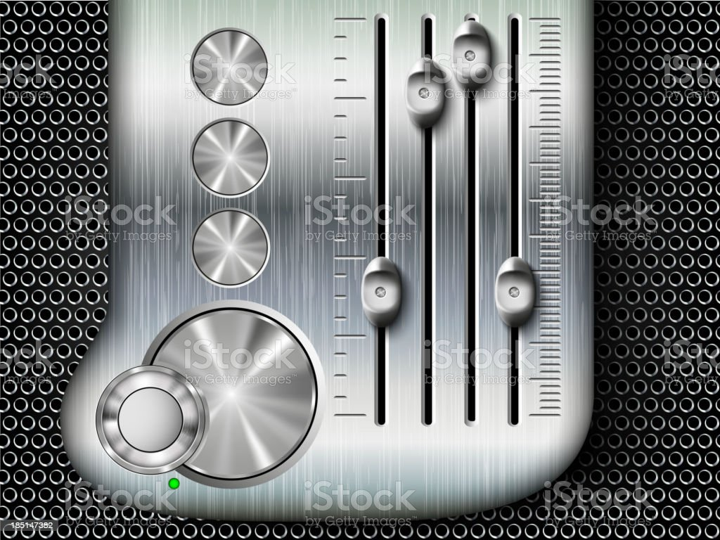 mixing console faders royalty-free stock vector art