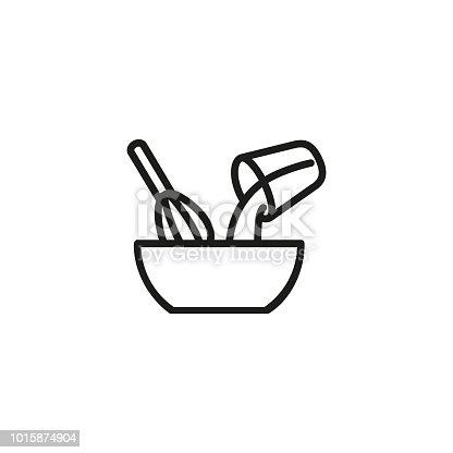 istock Mixing ingredients line icon 1015874904