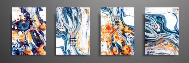 mischung aus acrylfarben. flüssige textur marmor. flüssige kunst. anwendbar für design-abdeckung, präsentation, einladung, flyer, geschäftsbericht, poster und visitenkarten-design verpackung. moderne kunstwerke. - mineral stock-grafiken, -clipart, -cartoons und -symbole