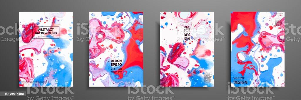 Mlange De Peintures Acryliques Texture Marbre Liquide Art Fluide Il Y A Lieu