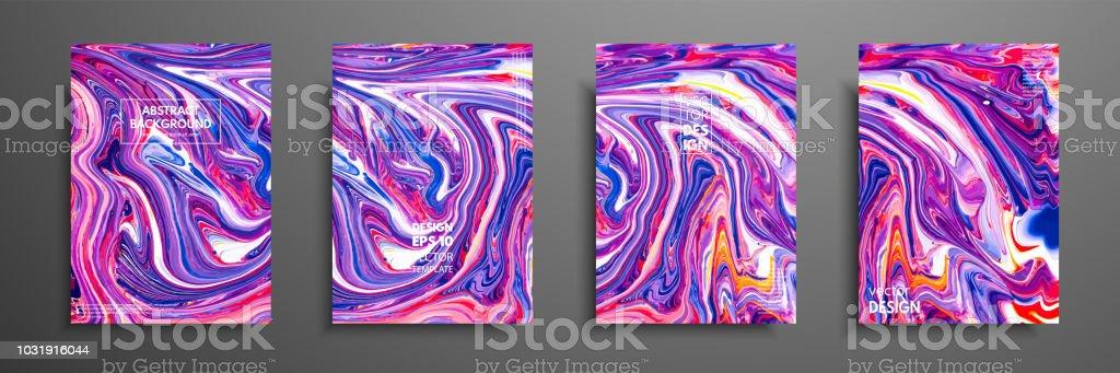 Melange De Peintures Acryliques Texture Marbre Liquide Art Fluide Il Y A Lieu