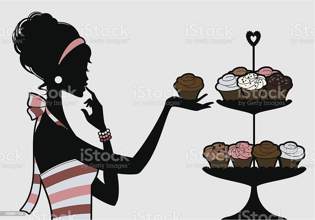 Mmm! Cupcakes royalty-free stock vector art