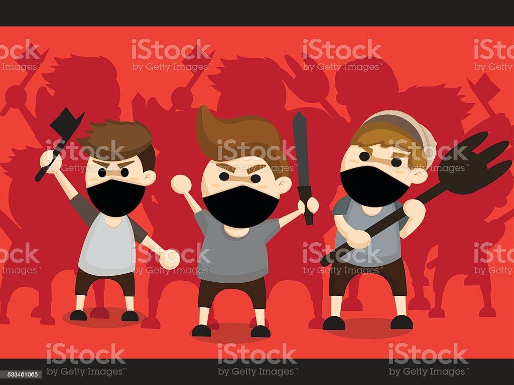 mob cartoon design vector art illustration