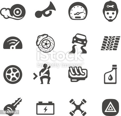 Mobico Icons Auto Parts Stock Vector Art & More Images of