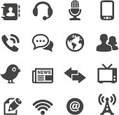 Mobico collection — Communication and media icons.