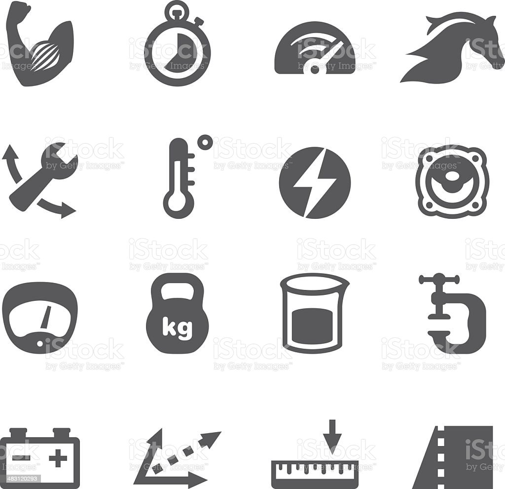 Mobico icons - Convert Units royalty-free stock vector art