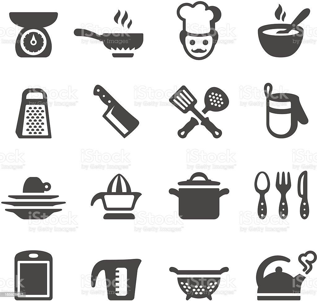 Mobico ícones-cozinha - ilustração de arte em vetor