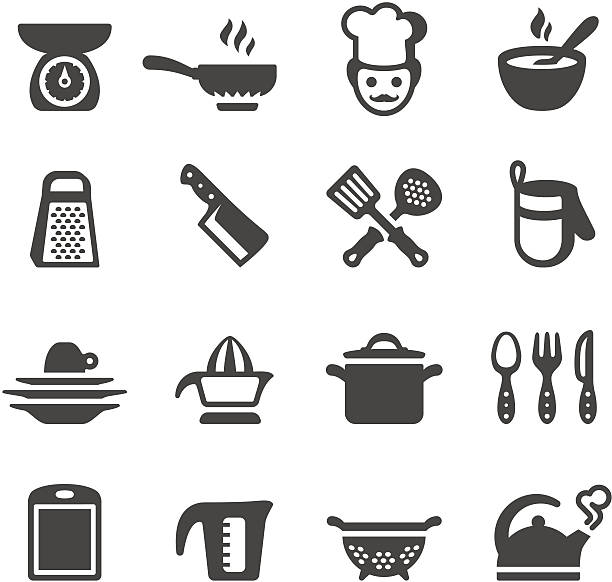 Mobico icons - Cooking Mobico collection - Cooking and Kitchen icons. grater utensil stock illustrations