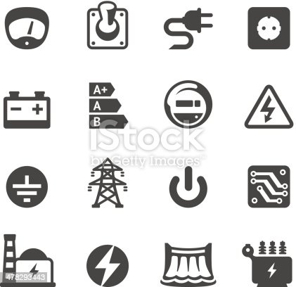 Mobico icons collection - Electricity and Power.
