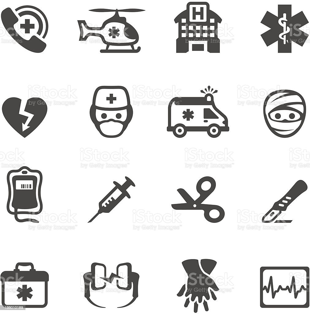 Mobico icons - Emergency Services vector art illustration