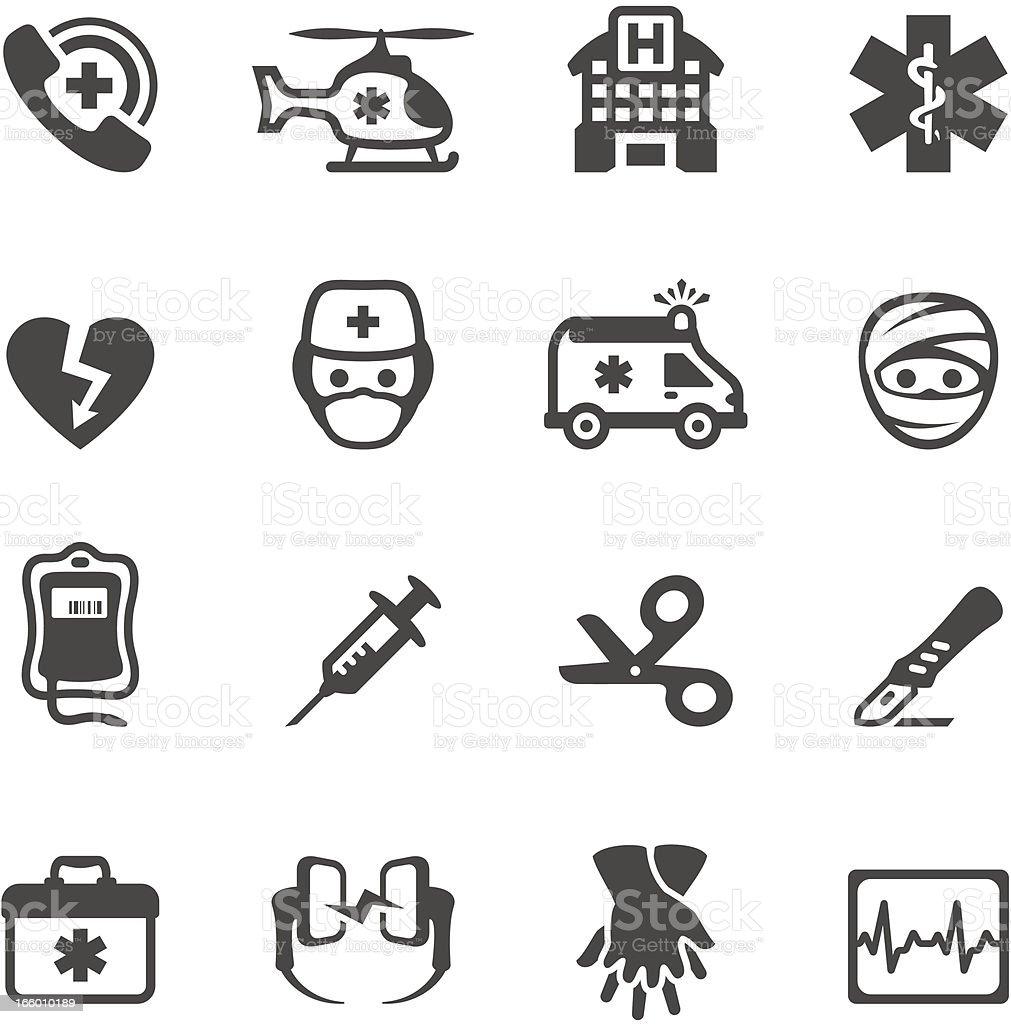Mobico ícones de serviços de emergência - ilustração de arte em vetor