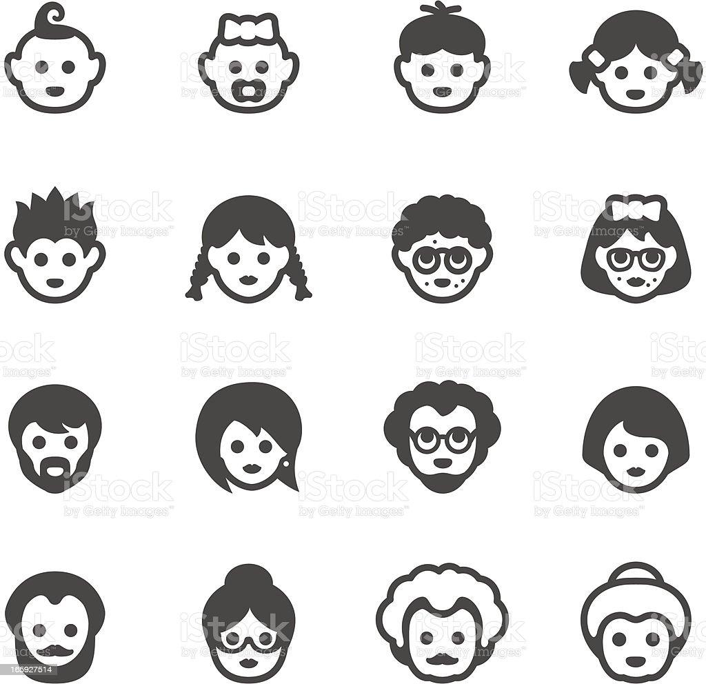 Mobico icons - Human generation vector art illustration