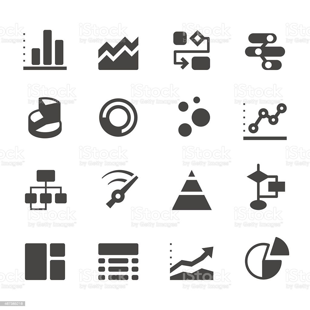 Mobico icons - Infographic and charts vector art illustration
