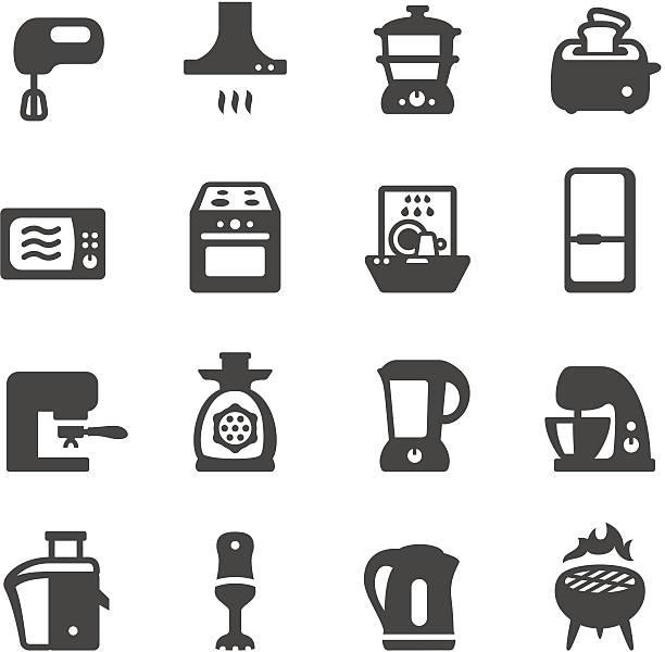 mobico icons-küchengeräten - küchenmixer stock-grafiken, -clipart, -cartoons und -symbole