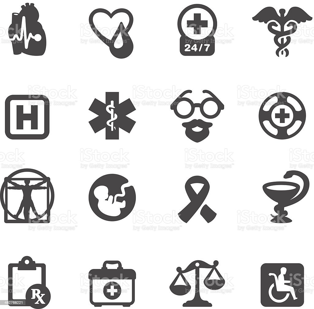 Mobico icons - Medical Symbols royalty-free stock vector art