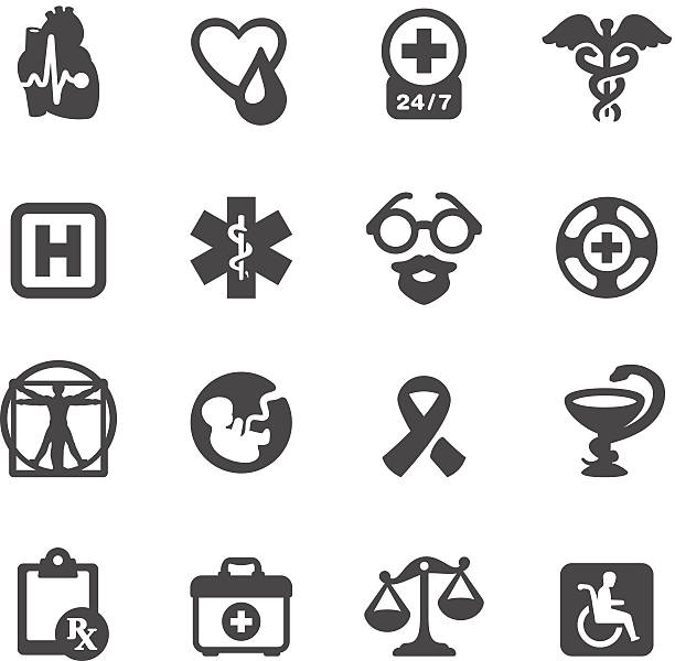 Mobico icons - Medical Symbols vector art illustration