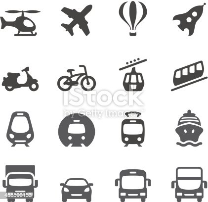 Mobico collection — Mode of Transport icons.