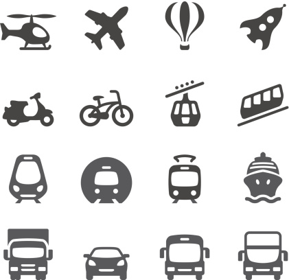 Mobico icons — Mode of Transport