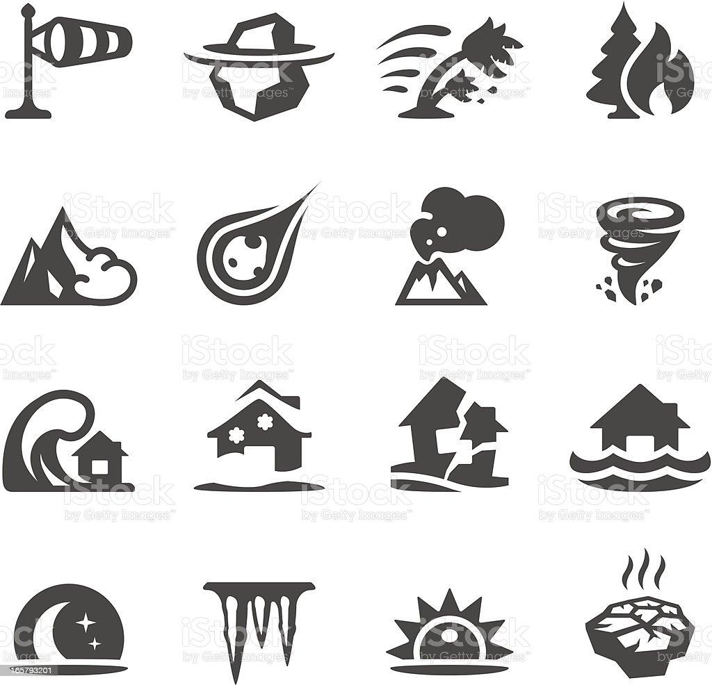 Mobico ícones-desastre Natural - ilustração de arte em vetor