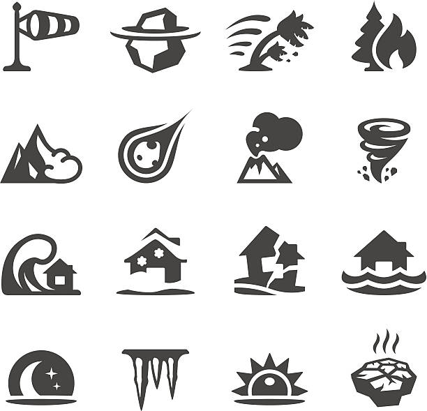 Mobico icons - Natural Disaster Mobico collection - Weather and Natural Disaster. avalanche stock illustrations
