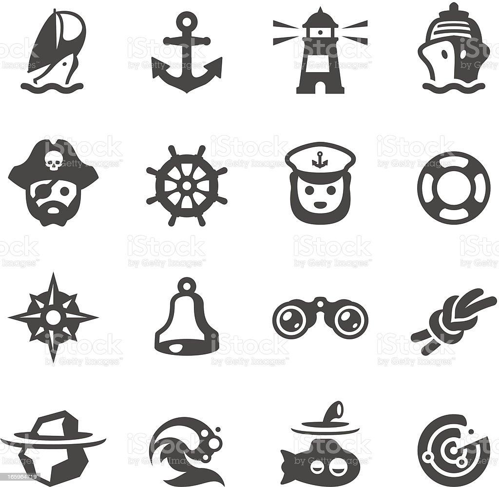 Mobico icons - Nautical vector art illustration