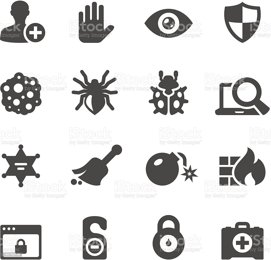 Mobico icons — Network Security vector art illustration