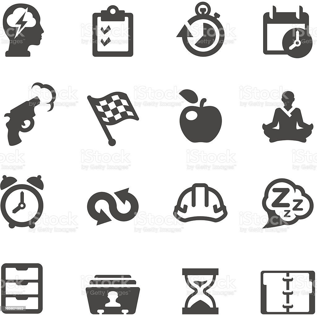 Mobico icons - Productive at work royalty-free stock vector art