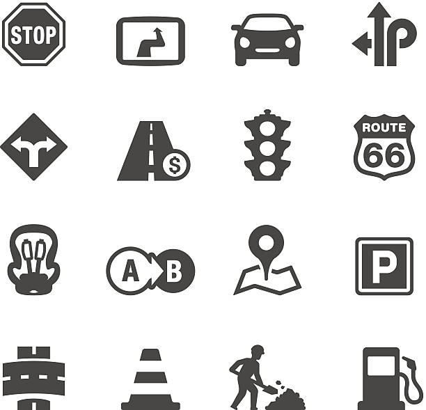 Mobico icons - Road Trip Mobico icons collection - Road Trip urban road stock illustrations