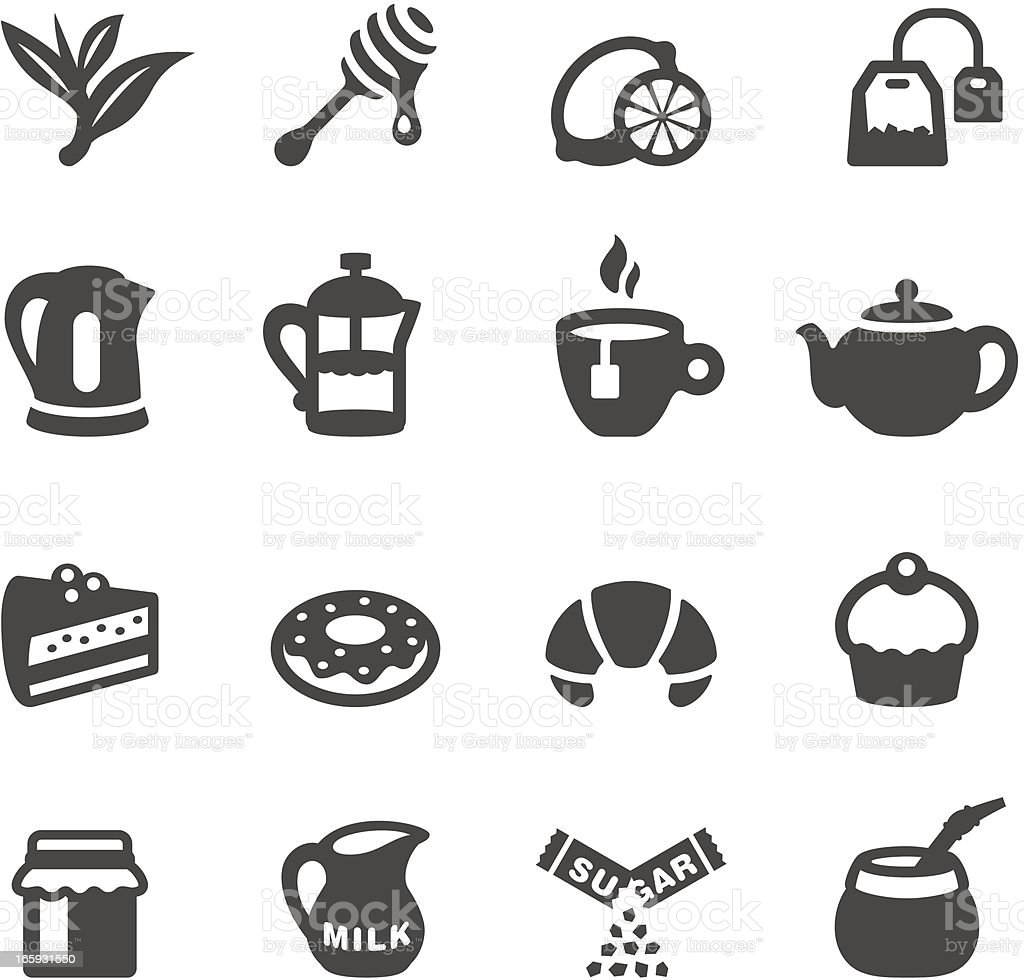 Mobico icons - Tea vector art illustration
