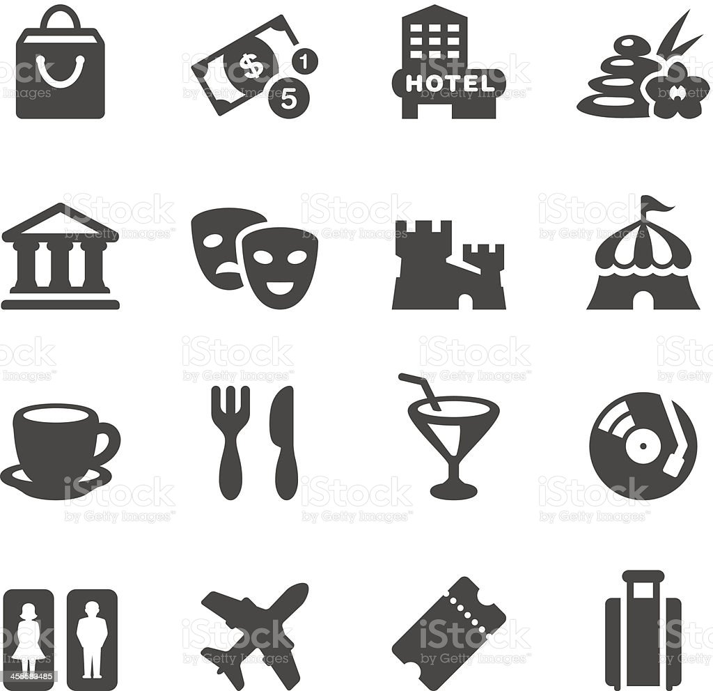Mobico icons - Travel and Leisure vector art illustration