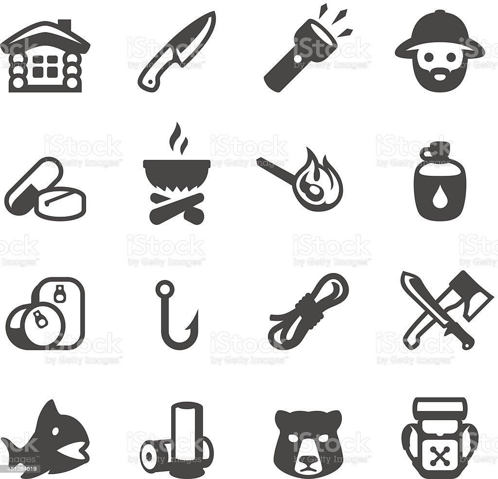 Mobico icons - Wilderness area vector art illustration