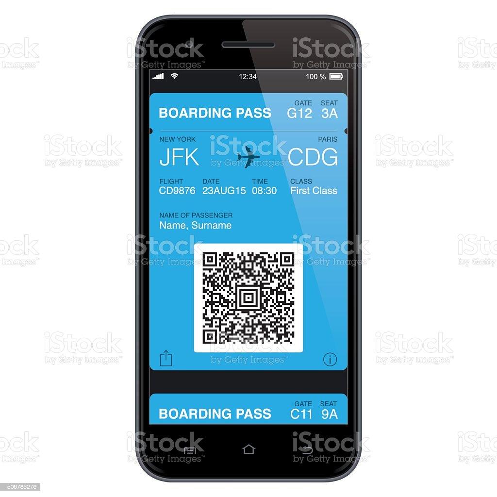 Mobil Bordkarten-Vorlage. Vektorgrafik – Vektorgrafik