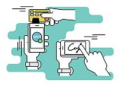 Mobile acquiring with signature via smartphone