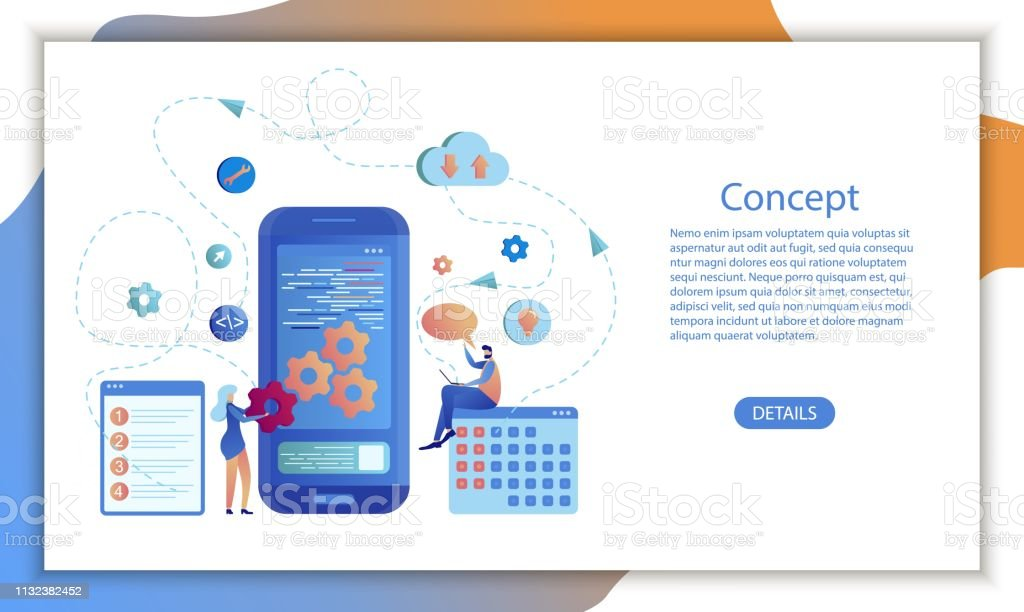 Mobile App Business Calendar Software Design Stock Illustration Download Image Now Istock