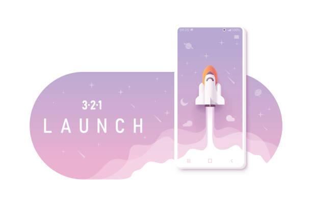 Mobile app creation concept vector art illustration