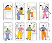 istock Mobile app development set 1253858063